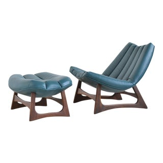 Adrian Pearsall Rare Lounge Chair and Ottoman by Craft Assoc For Sale
