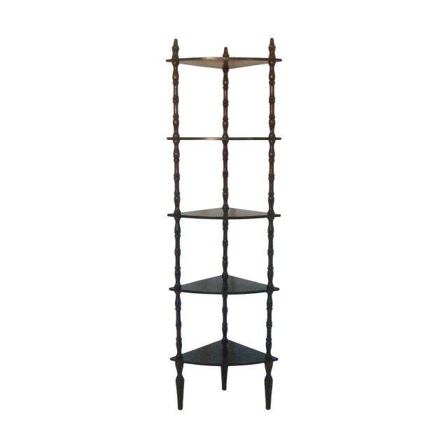 Vintage Mahogany Corner Etagere with Five Shelves - Image 1 of 5