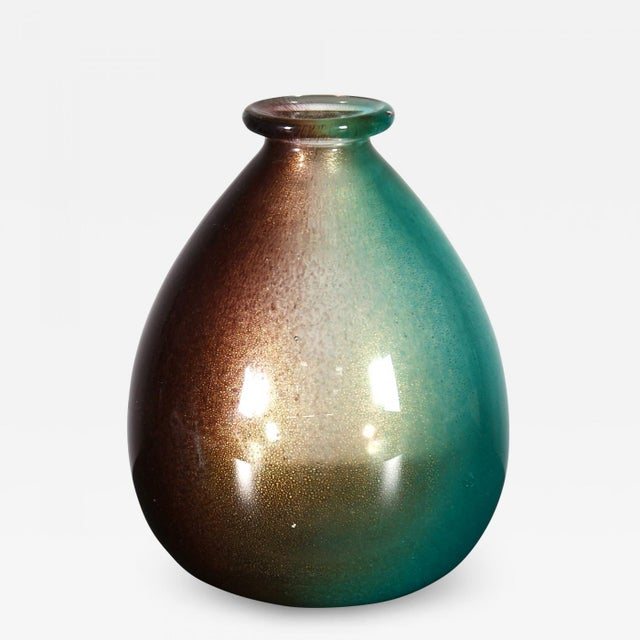 "Archimede Seguso - Seguso Vetri d'Arte Vase of Archimedes Seguso of the Series ""Polveri"" 1953 For Sale - Image 6 of 6"