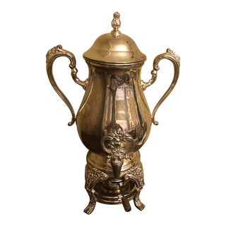1960s Reed and Barton Silver Plated Coffee Urn For Sale