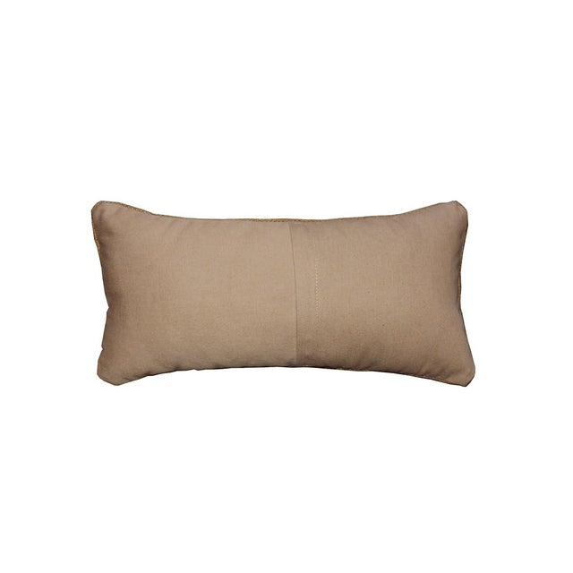 Decorative Neutral Woven Lumbar Pillow - Image 2 of 4