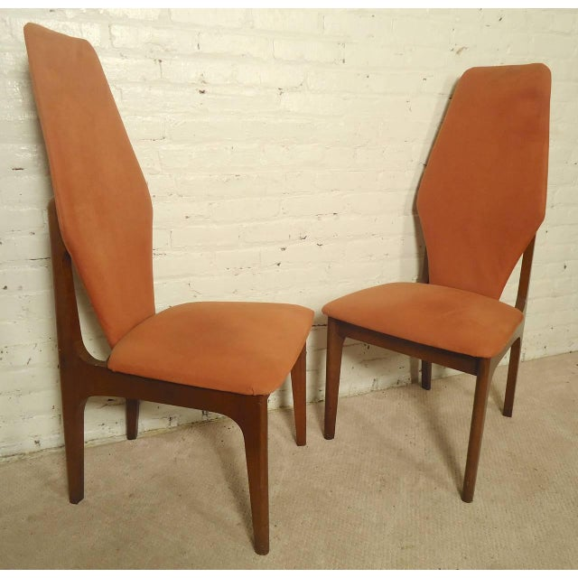 Adrian Pearsall Style Tall Back Chairs - a Pair - Image 7 of 7