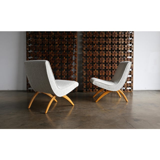 Mid-Century Modern Milo Baughman Scoop Chairs for Thayer Coggin Circa 1955 - a Pair For Sale - Image 3 of 13