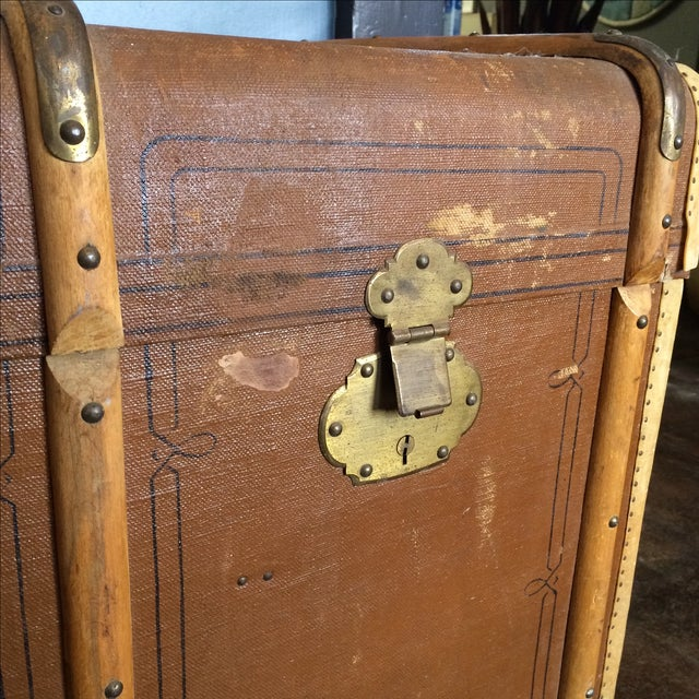 Leather Steamer Trunk by Albert Rosenhain - Image 5 of 11