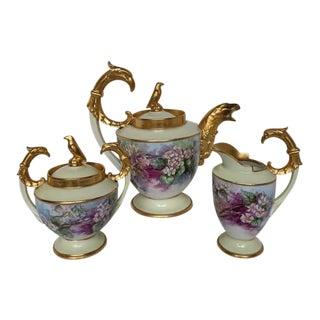 Antique Rosenthal Griffen Tea Set - 3 Pc. For Sale