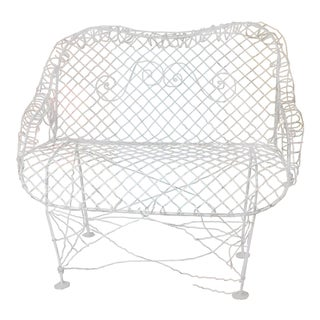 French Wire Garden Bench For Sale