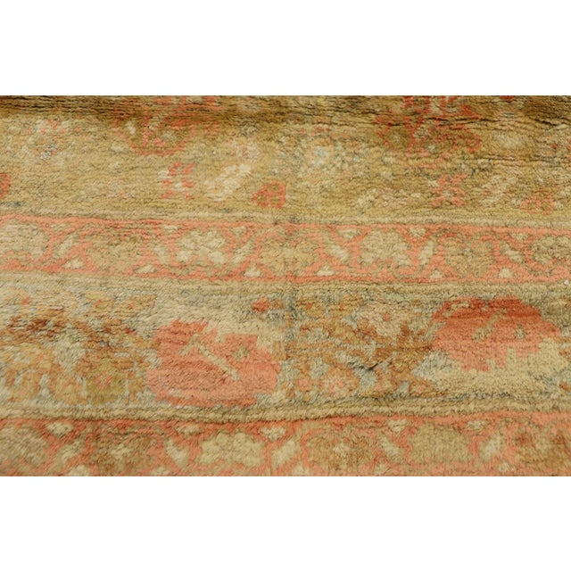 Early 20th Century Antique Persian Mahal Long Persian Carpet Runner - 03'09 X 28'04 For Sale - Image 5 of 10