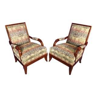 Hickory Chair Lounge Club Chairs - A Pair For Sale