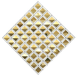 Curtis Jere Brass Diamond Kinetic Wall Sculpture For Sale