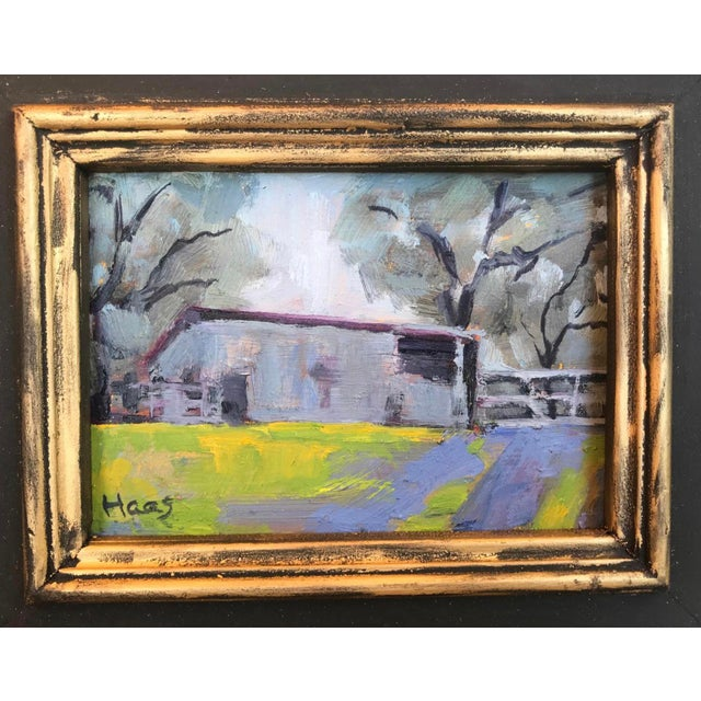 """2010s """"Amador County Barn"""" Oil Painting For Sale - Image 5 of 7"""