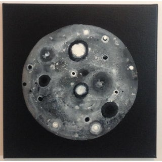 Black and White Moon Painting For Sale