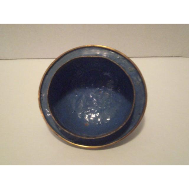 Cobalt Blue Cloisonne Covered Ginger Jar - Image 7 of 11