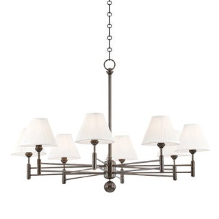 Mark D. Sikes Classic No.1 8 Light Chandelier - Distressed Bronze