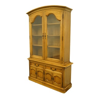 """20th Century French Country Thomasville Furniture Chateau Collection 53"""" Buffet With China Cabinet Preview"""