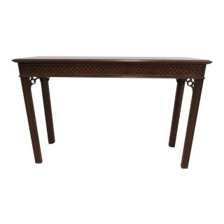 1980s Vintage Councill Craftsman Mahogany Console For Sale