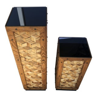 Tropical Style Pedestals - a Pair For Sale