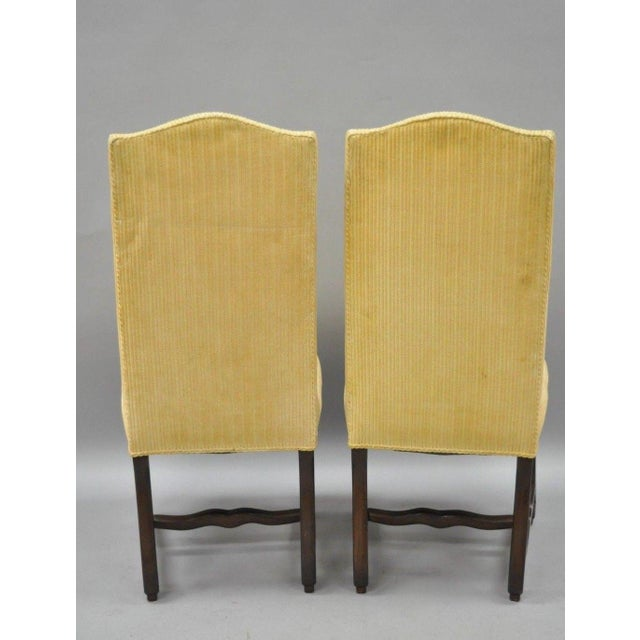 Early 20th Century Walnut Os De Mouton Louis XIV French Style Upholstered Dining Chairs- Set of 10 For Sale - Image 10 of 12
