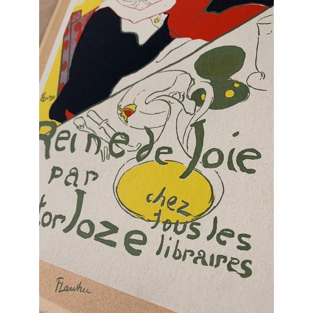 1940s Vintage 1940's Toulouse Lautrec Original Silkscreen Print Reine De Joie 1892 For Sale - Image 5 of 7