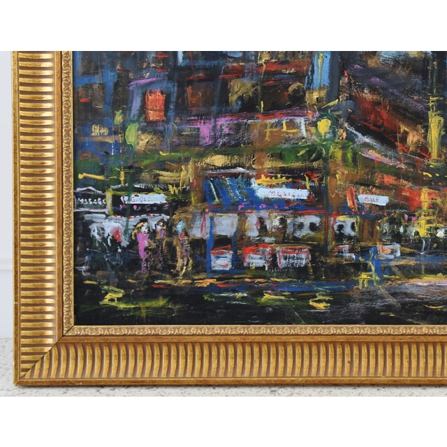 Abstract Juan Guzman Los Angeles Cityscape Abstract Painting For Sale - Image 3 of 10