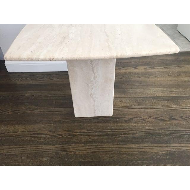 Italian Travertine Marble Side Table - Image 4 of 6