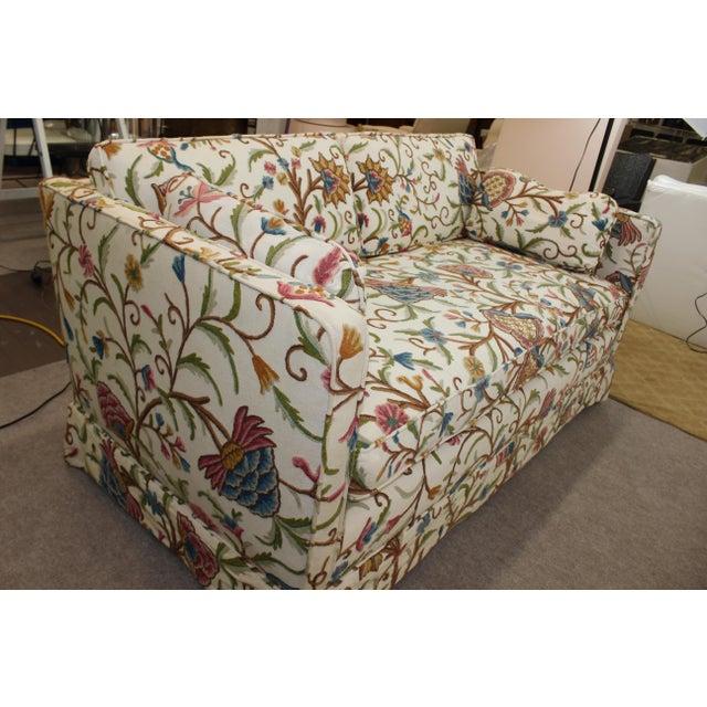 Mid-Century Modern Floral Sofa Settee - Image 10 of 10