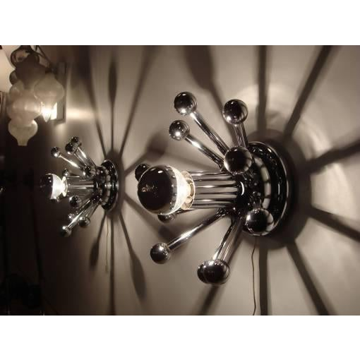 Sputnik Wall Lights - A Pair For Sale - Image 9 of 10