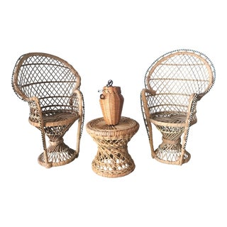 Small Wicker Dining Set Model For Sale