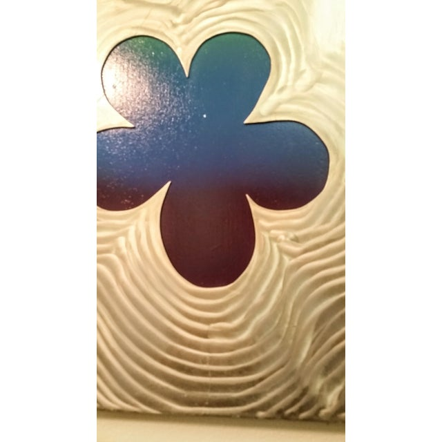 Stainless Steel Brushed Floral Wall Hanging - Image 6 of 6