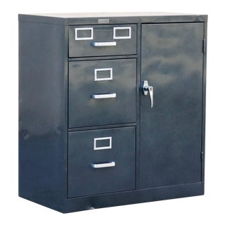 1960s Safe Cabinet by Borroughs, Refinished For Sale