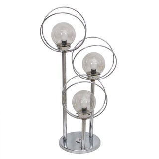 Space Age Chrome Orbs & Rings Table Lamp With 3 Tiers For Sale