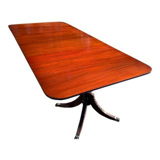 Double Pedestal Mahogany Dining Table For Sale