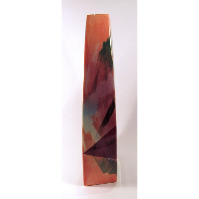 1980s Vintage 1989 John Bergen Studio Ceramic Vase For Sale - Image 5 of 12