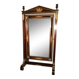Empire Floor Standing Mirror For Sale