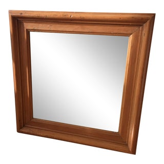 Late 20th Century Vintage Wood Mirror For Sale