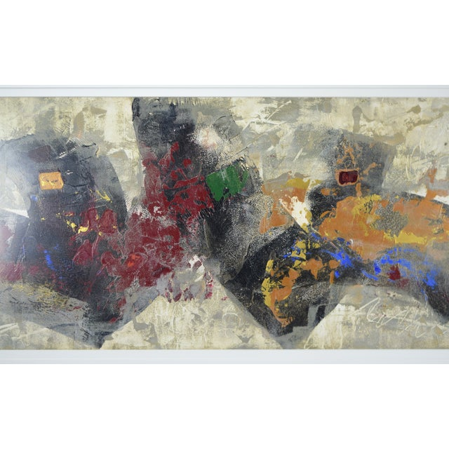 Modernist Abstract Forms Oil Painting #2 by Canadian Artist Patrice Beckerich For Sale - Image 4 of 9