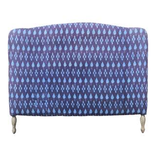 Anthropologie Full Headboard Upholstered in Batik Fabric For Sale