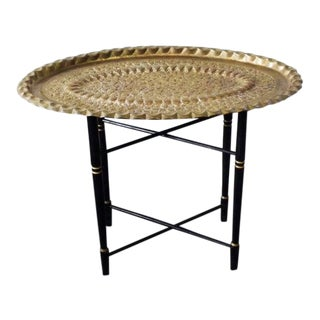Mid Century Moroccan Style Tea Table For Sale