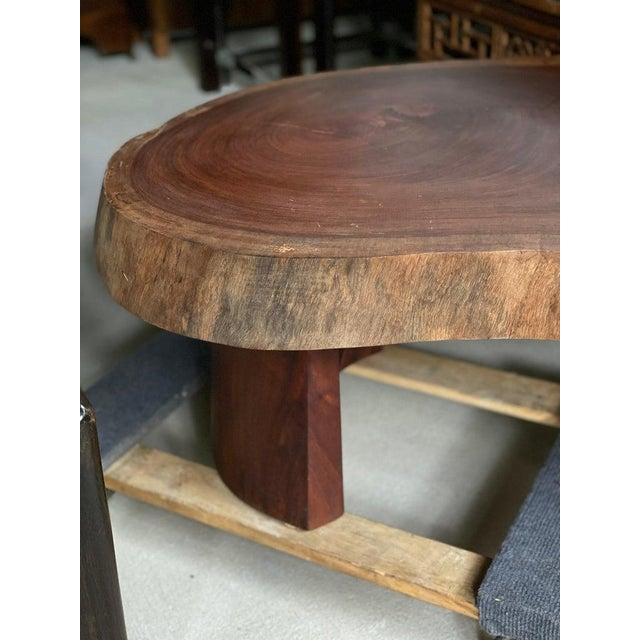 Live Edge Cocktail Table, Belgium 1960's For Sale - Image 4 of 8