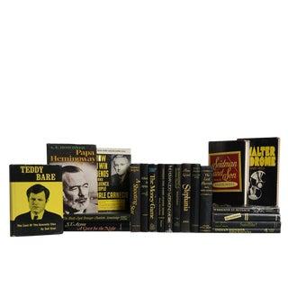 Vintage Book Set in Black & Gold, S/20 For Sale