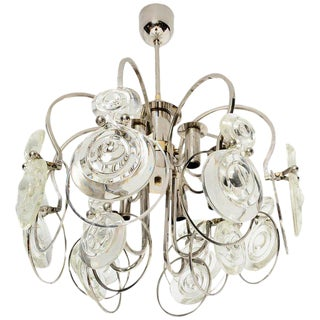 Italian Chandelier Attributed Sciolari For Sale