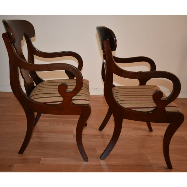 19th Century Antique Empire Solid Mahogany Dining Room Chairs- 6 Pieces For Sale In Philadelphia - Image 6 of 13
