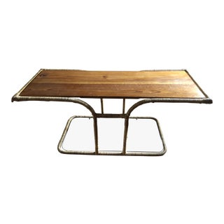 Mid Century Boho Chic Bamboo Table For Sale