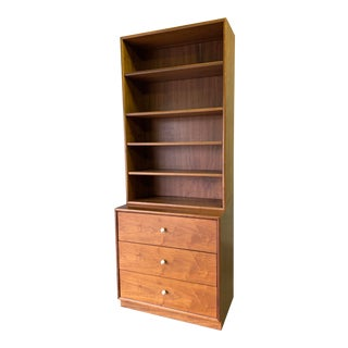 Mid Century Modern American Walnut Bookcase / Dresser by Drexel For Sale