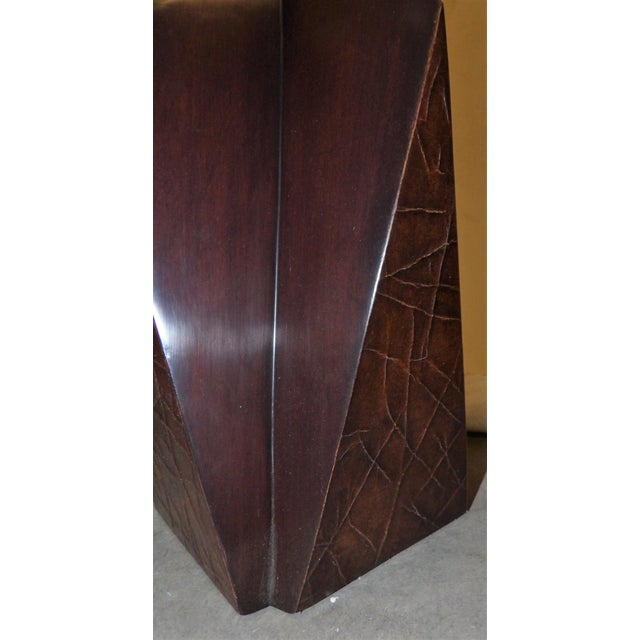 Unusual Contemporary Wood Obelisk Lamp. This item was purchased for a client - and as it happens from time to time, the...