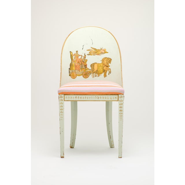 Early 20th Century Milton Textiles Neoclassical Appliqué Chair For Sale In New York - Image 6 of 6