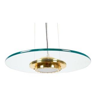 Kovacs Glass Saucer Pendant Light For Sale