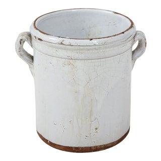 Vintage Terra Cotta Pot With Handles For Sale