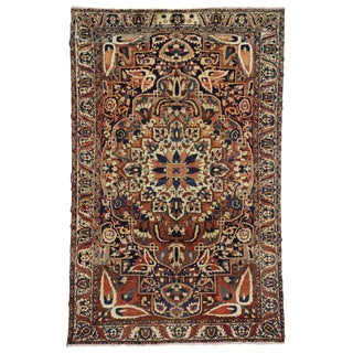 20th Century Persian Bakhtiari Rug With Rustic Style - 6′8″ × 10′7 For Sale