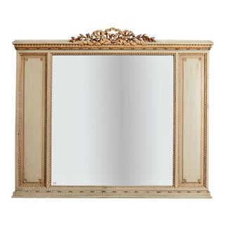 1900 French Louis XVI Style Carved Gilt Over Mantle Mirror For Sale