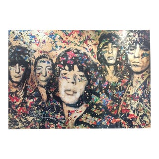 "Mr. Brainwash Original Pop Art Lithograph Print Poster ""the Rolling Stones"" For Sale"